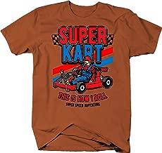 Super Go Kart Video Game Parody Speed Adventure with Mario Tshirt