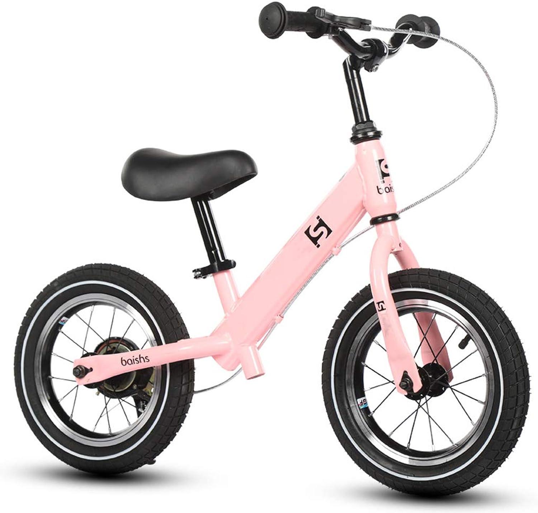 ZAQ Pink Balance Bike with Handbrake - Girl Kids Bike, Birthday Gift, 2 3 4 5 6 Years Old