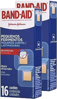 Kit Curativos Band-aid para Pequenos Ferimentos com 32 unidades