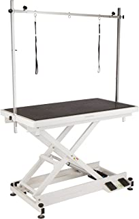 Flying Pig Professional Electric Lift X Style Durable Grooming Table w/Wheels