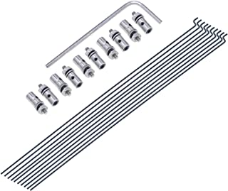 20pcs Adjustable Pushrod Connector Linkage Stopper&Φ1.2mm x L190mm (7.5 inch) Steel Z Push Rods Parts for RC Airplane Plane Boat Replacement