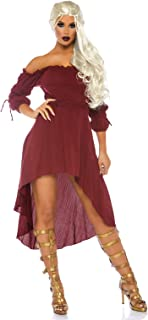 Women's High Low Peasant Dress Costume