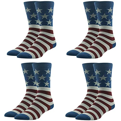 los angeles 07078 49ea6 Patriotic American Flag Socks, Ristake Men s Casual Dress Socks Wedding  Groomsmen Gift Socks 1
