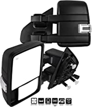 ECCPP F150 Towing Mirrors, A Pair of Exterior Automotive Mirrors Replacement fit for 2004-2014 Ford F-150 with Puddle Lights Turn Signal Indicator and Power Operation Heated Black Housing
