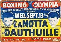 1950ジェイクラモッタデトロイトコレクティブルウォールアートのボクシング
