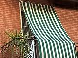 Tenda da sole ad anelli per balcone o terrazzo - tessuto a righe