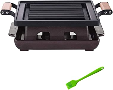 Grills Propane Outdoor Indoor Barbecue Charcoal Household Single Man Mini Barbecue Table BBQ Korean Cuisine Von-Stick Barbecu