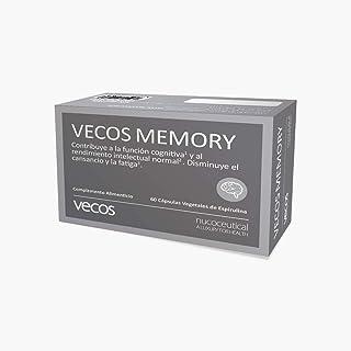 Vecos Memory 60 Cápsulas Vegetales. Favorece concentración. Memoria y agilidad Mental. Con fosfatidilcolina. fosfatidilcolina. Acetil L- Carnitina. L-Glutamina. Taurina. Té verde y Vitaminas grupo B.
