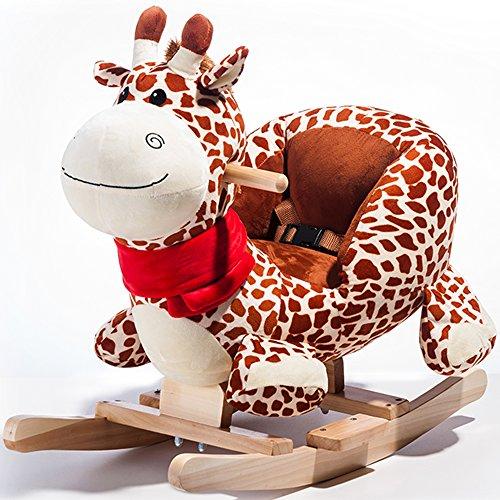 Rocket Bunny Toddler Indoor Ride On Rocking Giraffe Chair Toys Kids Rocking Animal