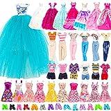 Festfun 25 Pcs Vêtement Accessoire de Poupée 3 Robes de Soirée 2 Vêtements 10 Minis Robes Chics avec 10 Chaussures pour Poupée Fille de 11,5 Pouces