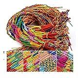 40 piezas 4 pulseras trenzadas estilo, hilo trenzado hecho a mano colorido, pulseras la...