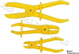 3pcs Flexible Hose Clamps Line Clamp Hose Pinch Off Pliers Set Mixed Sizes