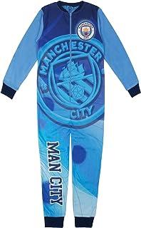 Manchester City FC - Pijama de una Pieza para niño - Forro Polar - Producto Oficial