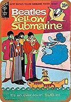 Beatles Yellow Submarine カブトムシ メタルサインメタルポスターポストカード注意看板装飾壁掛壁パネルカフェバーレストランシネマボールルームミュージックフェスティバル