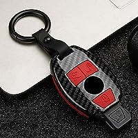 HKPKYK 車のキーシェル,ABS +シリコーン車のキーケースカバー、メルセデスベンツAMG W203 W211 W204 W205 W212 CLK CLS CLA GL R SLK ABCSクラスアクセサリー