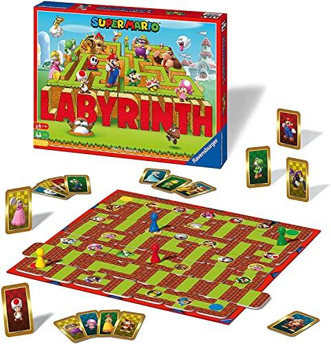 Ravensburger Familienspiel 26063 - Das verrückte Labyrinth mit den Figuren aus Super Mario(tm) - Spieleklassiker für die ganze Familie, 2-4 Spieler, ab 7 Jahren