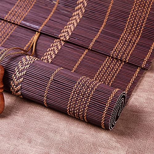 Estor de bambú opaco, natural, de alta calidad, estor de bambú para interiores, práctico protector solar y privacidad, transpirable, decoración principal para la terraza exterior (100 x 200 cm)