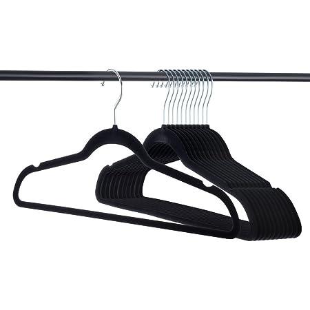 Home-it Premium Velvet Hangers Heavy Duty Clothes Hook Swivel 360-Ultra Thin 50p