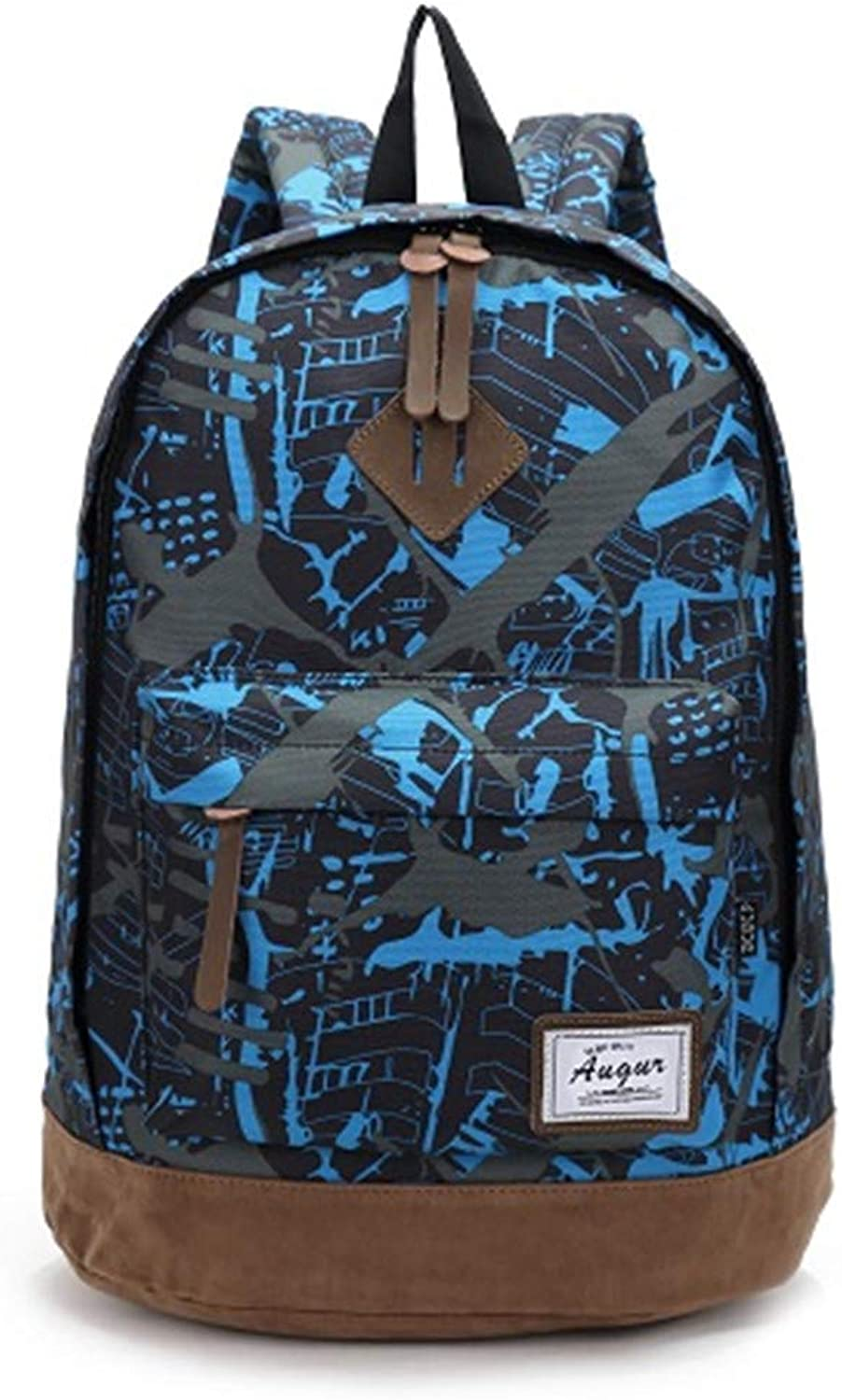 Men Women Oxford Backpacks Style Student School Laptop Computer Bag Pack Travel Back Bag Camouflage bluee