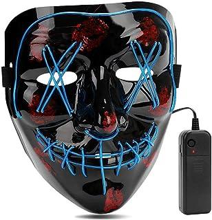 AIWOGEP Halloween LED Máscaras,Mascaras de Halloween,Craneo