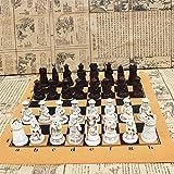 DAIMINNN Ajedrez Mediano Pieza de ajedrez Tablero de ajedrez ResinaPiezas realistas Personajes Dibujos Animados Entretenimiento Regalos