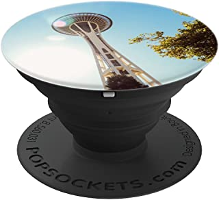Seattle Space Needle Emerald City Washington Pacific NW Gift - PopSockets Grip and Stand for Phones and Tablets