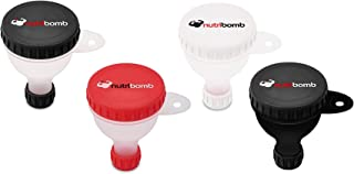 Nutribomb Small Fill N Go Funnel - Supplement Funnel - Water Bottle Funnel - Funnel for Pre-Workout - BCAAs - Creatine - G...