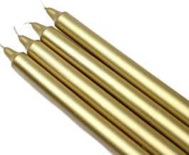 شمعة Zest Candle CEZ-105_12 144 قطعة مستقيمة ، 25.4 سم ، ذهبي معدني