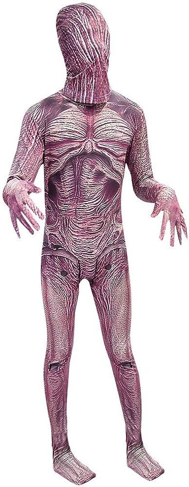 SPCOSPLAY Halloween Demogorgon Cosplay Costume Horror Cannibal Flower Bodysuit for Kids