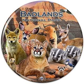 Badlands National Park South Dakota SD Cougar Coyote Pinback Button Pin Badge