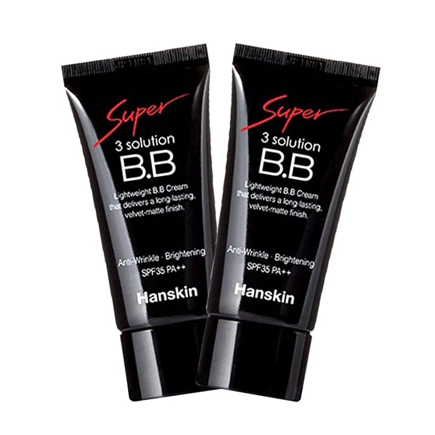 提案するターゲットプレビスサイトハンスキンスーパー3ソリューションBBクリームSPF35 PA++30ml x 2本 Hanskin Super 3solution BB Cream SPF35 PA++ 30ml x 2pcs [並行輸入品]