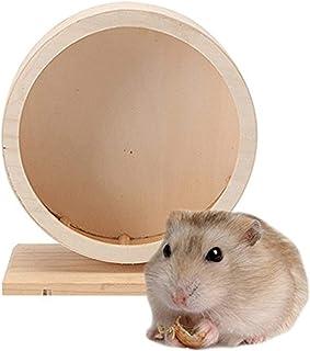 AikoPets ハムスター回し車 天然素材 静音 サイレントホイール 小動物 ランニング 運動不足解消 ハムスター おもちゃ (S(直径15cm))