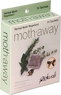 Richards Homewares Moth Away Sachets Nontoxic (White) (1-Pack of 24 Sachets)