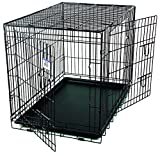 Pet Lodge Large Wire Double Door Dog Crate Large Wire Double Door Crate, Great for Pets Up to 70lbs (Item No. WCLRG)