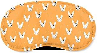 Bunny Bow Orange - Sleeping Mask - Sleeping Mask
