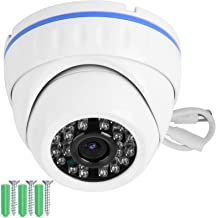 CCTV Camera, PAL Camera, Metal Security Camera CCTV Dome Camera White Plug and Play Dome Indoor for Home Shop Outdoor(4MP)