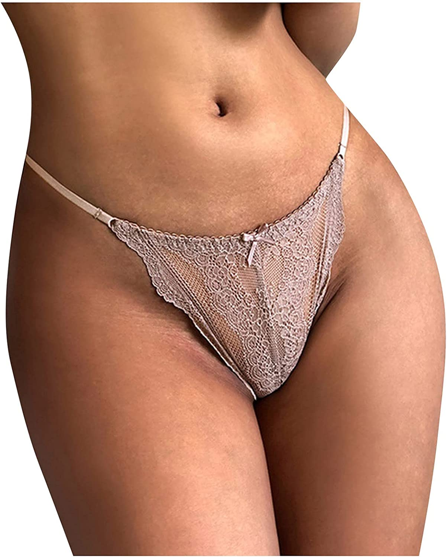 Womens Underwear Bikini Brief Panties Sexy Lace Seamless Underwear Breathable Stretch Bikini Panties