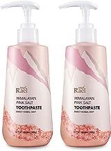 Rael Himalayan Pink Salt Toothpaste - 2Count, Natural, Vegan, Paraben-Free, Anti-Cavity, Convenient Pump Packaging, Fresh Breath, Oral Care, Sweet Herbal Mint (21.16oz / 600g, Total) by Rael