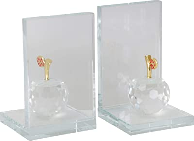 Gilded Barn Dimond Home Crystal Sphere Bookends Lazy Susan 329023
