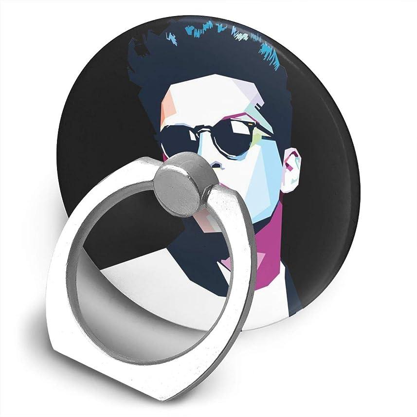 遊びます眩惑する戦うブルーノマーズ グッズ 24k 歌手 プリント リングホルダー ホールドリング 丸型 スタンド機能 落下防止 360度回転 IPhone/Android各種他対応