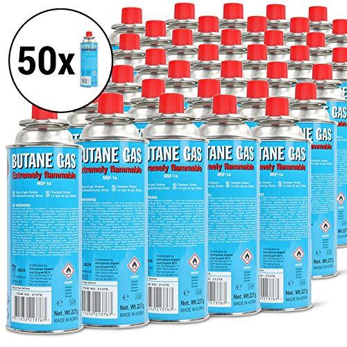 50 x Cartouche de gaz butane battery® 220 g pour réchaud de camping Cartouche et barbecue