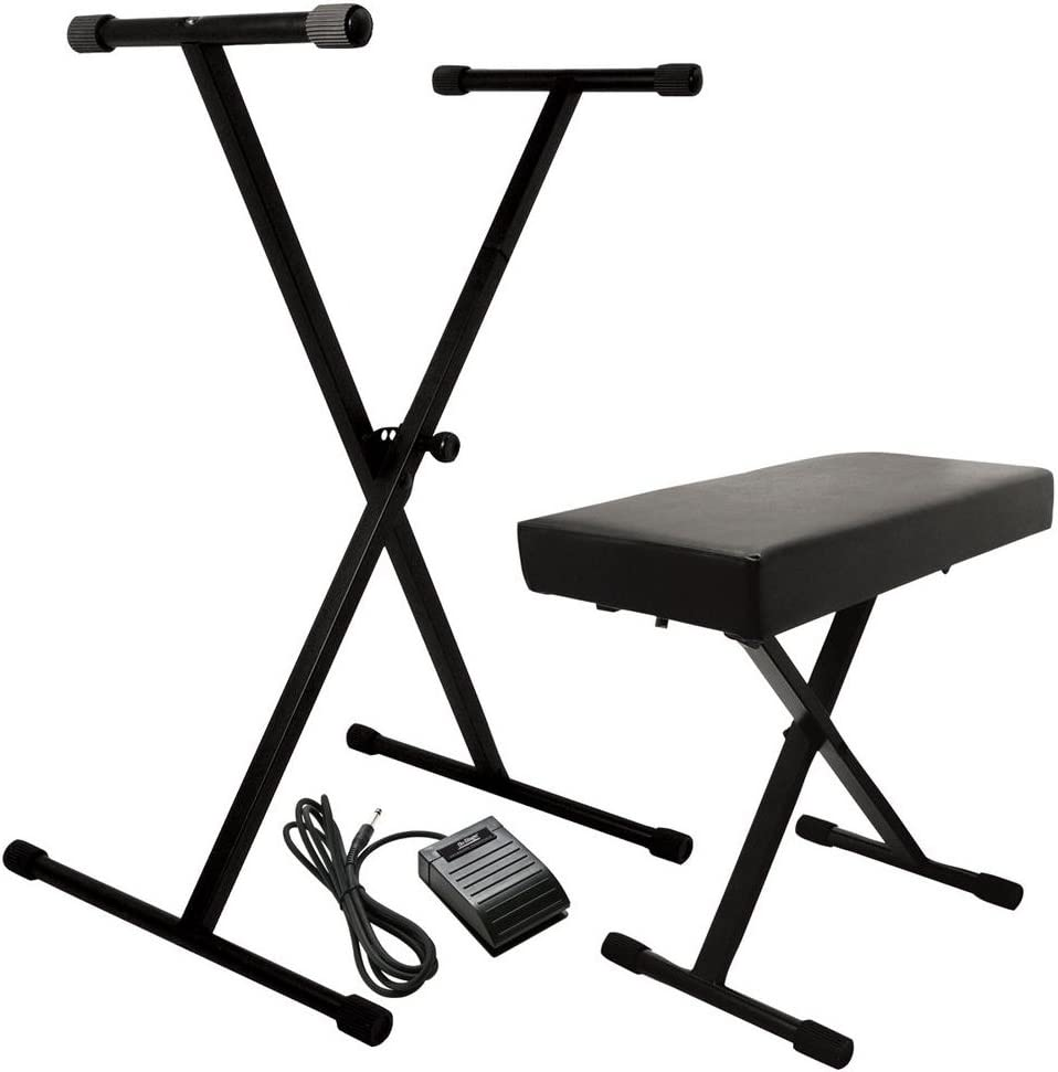 On-Stage Minneapolis Mall KPK6520 Popular standard Keyboard Stand Bench Pack KSP20 Pe with Sustain
