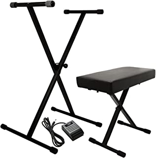 On-Stage KPK6520 Keyboard Stand/Bench Pack with KSP20 Sustain Pedal