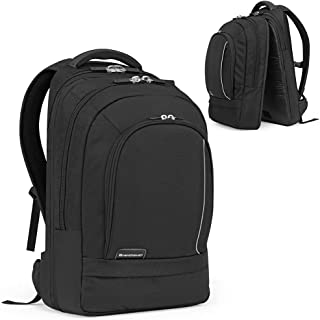 Brenthaven ProStyle Backpack with Rugged Ballistic Nylon Fits 17 Inch Chromebooks, Laptops, Tablets for K-12 Students, Teachers and Kids – Black, Durable, Rugged Protection from Impact and Compression