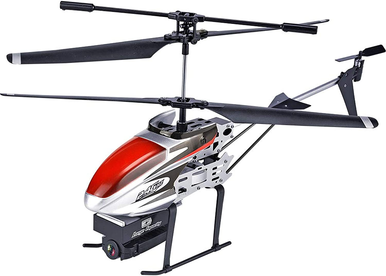 HUAXING RC Helicopter, 2.4GHz 3.5CH Drone Gesture Photo WiFi FPV 1080P HD Camera Attitude Hold One Key Off Land RTF,Red