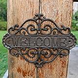 HDOUBR Decorazioni murali cortile Benvenuto benvenuto marchio ferro battuto numero civico in ferro battuto Benvenuti nella lista