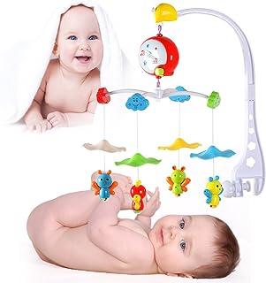 hollylife Móvil Musical de Cuna para Bebé, 4 Pequeñas Abejas Volandos, Juguete para Bebes, Batería no incluida