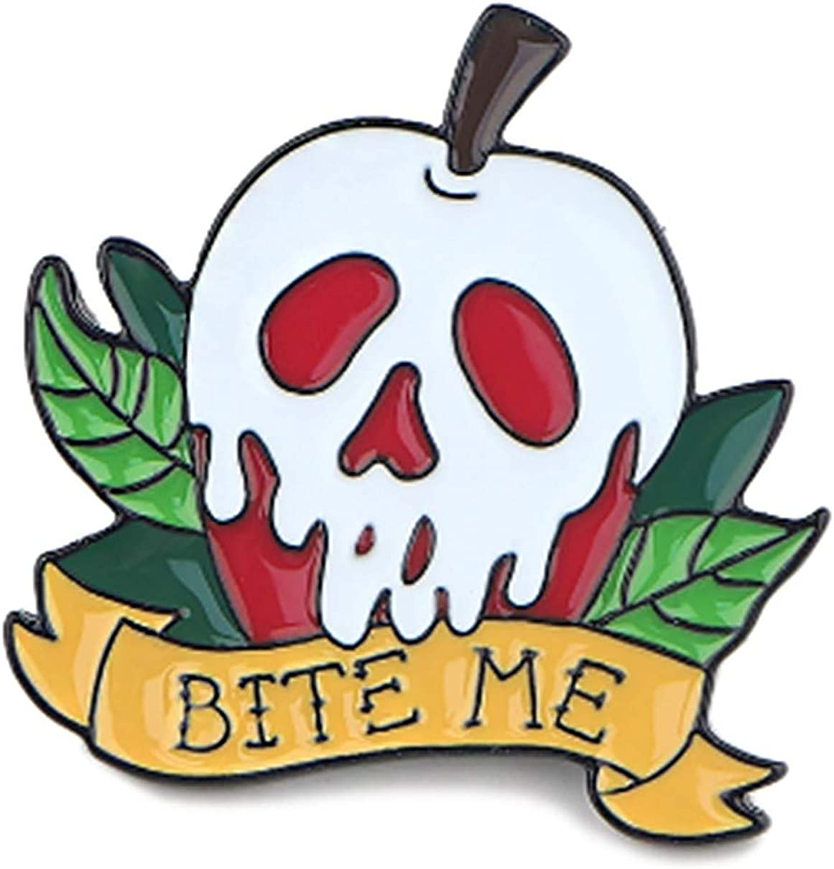 EC Trading Snow White Bite Me Poison Apple Metal 1 Inch Tall Enamel Pin