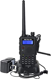 Retevis RT5 Two Way Radio with 128 Channels VHF/UHF Dual Band Scan VOX DTMF FM Car Charging Walkie Talkie(1 Pack)