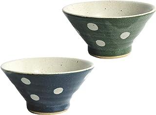 レトロモダンな水玉模様の使いやすい茶碗